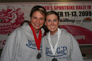 Michigan riders (and good sports), Jacqueline Campbell and Angela Thurston took home the 2009 Hard Luck Awards.