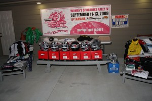 Sponsors donated big including six Fulmer helmets donated on behalf of Rock the Gear!