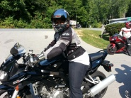 Stephanie heading out on her SV!