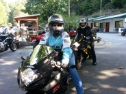 More gals taking off for the day of riding!