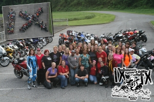Friday evening bike group photo! 40+ bikes!!!