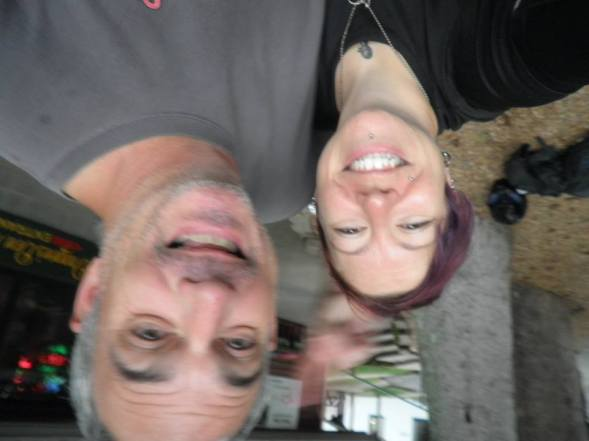 With Brad! (yes, we decided we'll keep this upside down!) :)