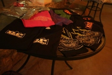 All the great shirts we had to give away!