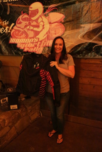 @iconmotorsports donated an awesome riding jacket that Cristi gets to take home.