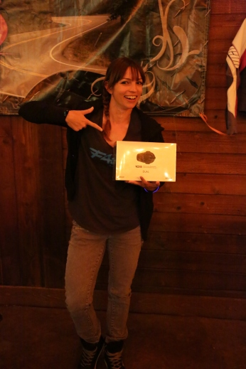 Jen was pumped to win the 10C from @senabluetooth